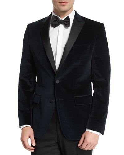 Haimon Velvet Dinner Jacket, Navy