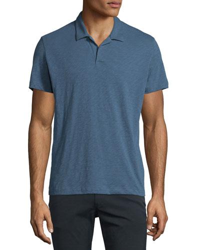 Willem Nebulous Short-Sleeve Polo Shirt, Navy