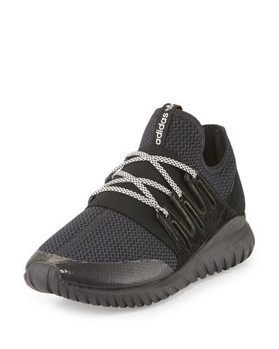 Men's Tubular Radial Trainer Sneaker, Black