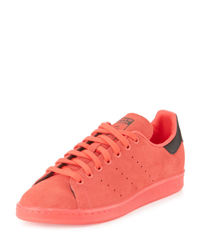 Men's Stan Smith Suede Sneaker w/Ice Outsole, Red