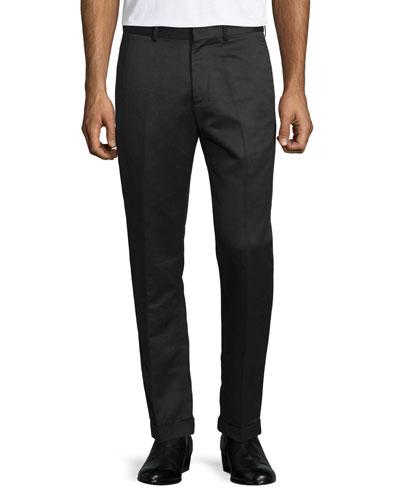 Muller Setter Straight-Leg Trousers, Black