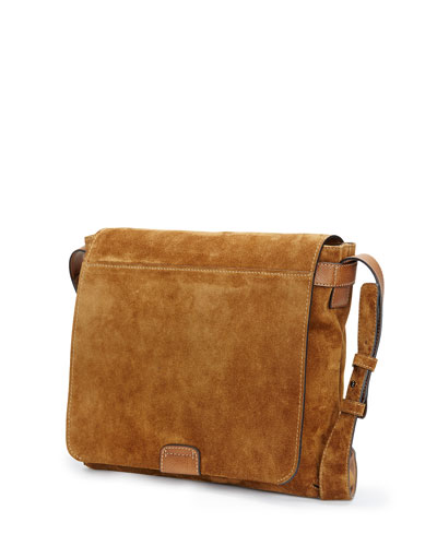 Shoulder Strap Suede Messenger Bag | Neiman Marcus