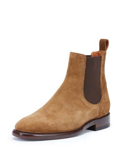 Weston Suede Chelsea Boot, Chestnut