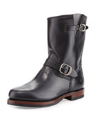 John Addison Leather Engineer Boot, Black
