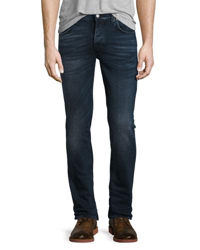 Grim Tim Unlit Indigo Slim Jeans, Blue