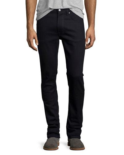 Lean Dean Dry Black Indigo Skinny-Leg Jeans, Black