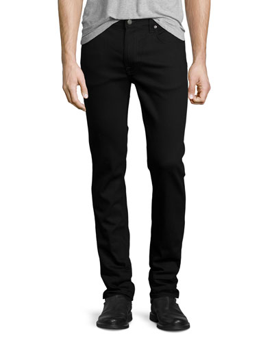 Thin Finn Dry Cold Black Denim Jeans, Black
