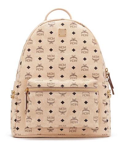 Stark Men's Side Stud Medium Backpack, Beige