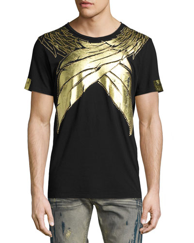 Metallic Wings T-Shirt, Black