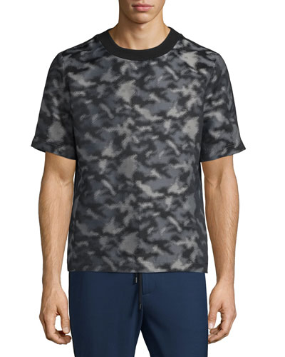 Camouflage-Print Short-Sleeve T-Shirt