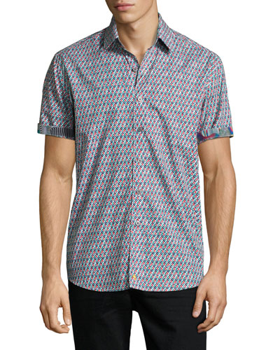 Continuum Short-Sleeve Sport Shirt, Multicolor