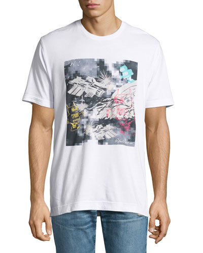 Space Robots Graphic T-Shirt, White