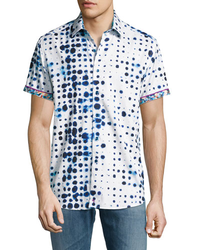 Biosphere Short-Sleeve Sport Shirt, White