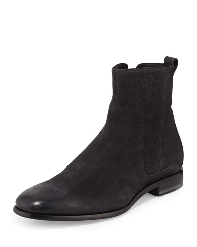 Andes Leather Ankle Boot, Black