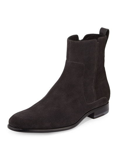 Andes Suede Ankle Boot, Heather Carbon