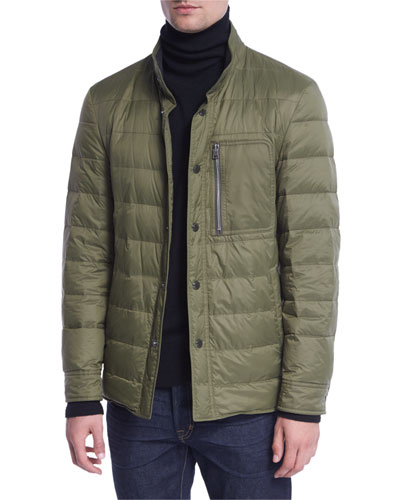 Down Shirt Jacket, Green