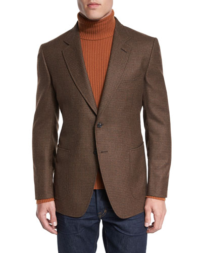O'Connor Base Box-Check Sport Jacket, Rust