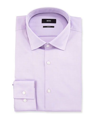 Juan Slim Fit Cotton Dress Shirt, Light Purple