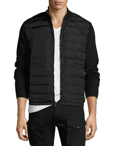 Down-Vest Combo Sweater, Black