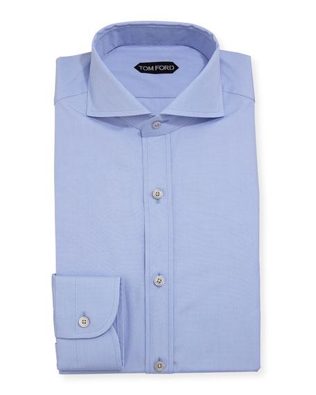 TOM FORD Yarn-Dyed Fine Poplin Dress Shirt