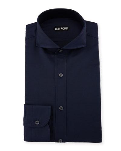 Double-Twist Yarn-Dye Twill Dress Shirt