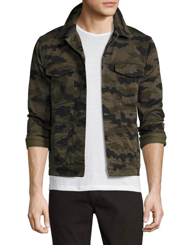 Gorn Camo-Print Denim Trucker Jacket