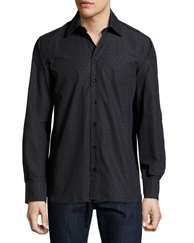 Gary Standard-Fit Dégradé Embroidered Shirt