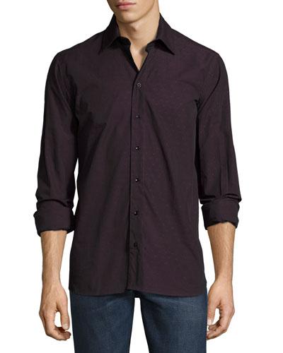 Gary Standard-Fit Tonal Dot Shirt