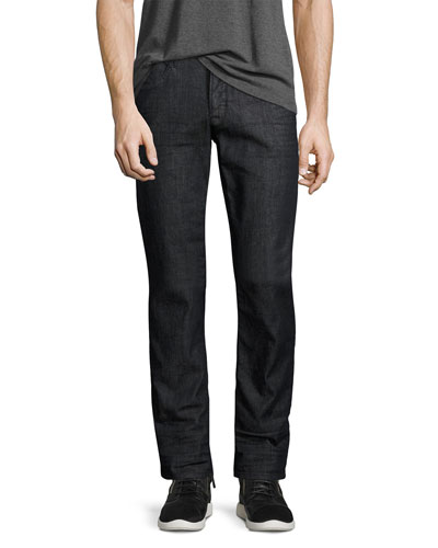 Byron Classic Straight-Leg Jeans, Caster (Dark Gray)