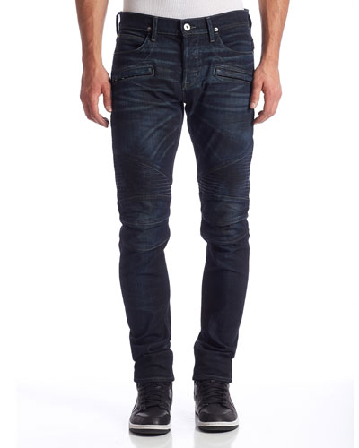 Blinder Biker Skinny Jeans, Artillery Dark Blue