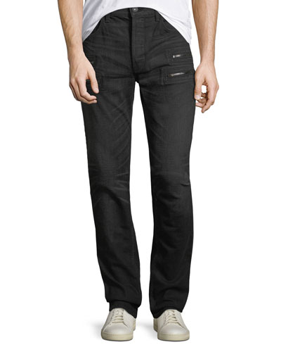 Broderick Trenches Zip-Pocket Skinny Jeans
