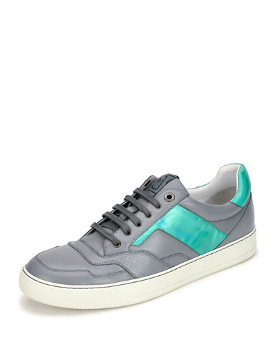 Men's Hologram Leather Low-Top Sneaker