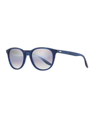 Men's Plimsoul Round Sunglasses, Cobalt/Silver