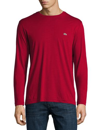 Three-Pack Pima Cotton Long-Sleeve T-Shirts