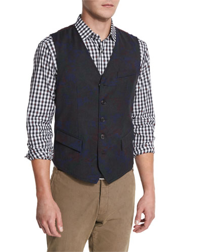 Gilbey Woven Printed Vest, Multi
