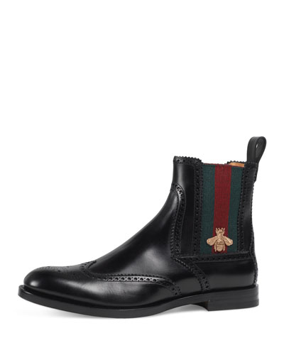 Strand Leather Chelsea Boot w/Bee Web