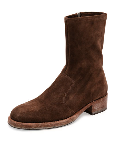 Suede Campus Boot, Brown