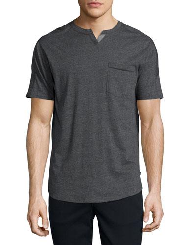 Johnny Slub Pocket T-Shirt, Dark Gray