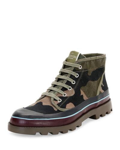 ID Camo Canvas Hiking Boot, Multicolor