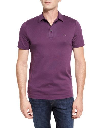 Sleek MK Polo Shirt, Blackberry