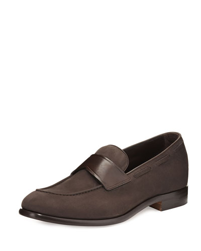 Il Mocassino Leather Loafer, Brown