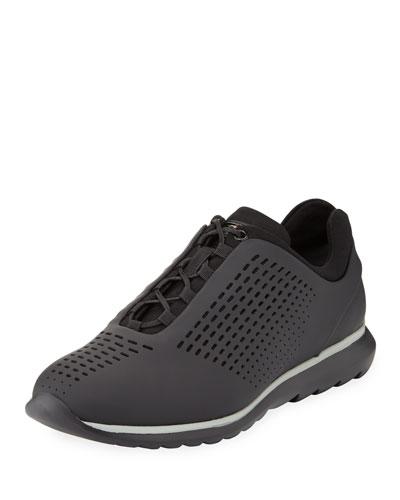 Techmerino Rubberized Sneaker, Black