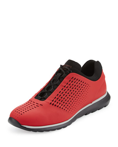 Techmerino Rubberized Sneaker, Red