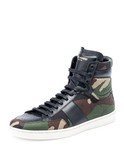 SL/10H Camo-Print High-Top Sneaker