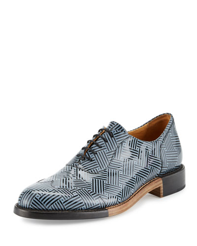 The Meyer Patent Leather Oxford Shoe, Herringbone