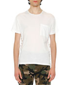 Rockstud Pocket T-Shirt, White