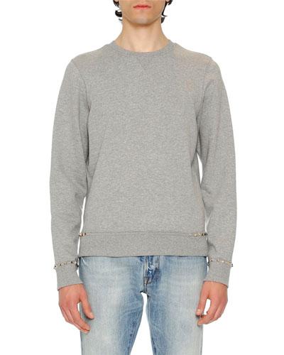 Rockstud Untitled Sweatshirt, Gray