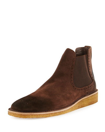 Pearsley Washed Suede Chelsea Boots, Brown