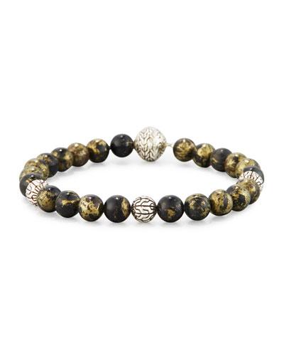 Modern Chain Bead Bracelet, Gold