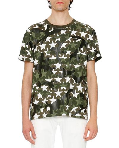 Camustars Printed T-Shirt, Marine